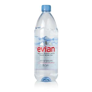 Evian Natural Mineral Water Prestige Bottle (1 Litre)
