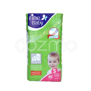 Fine Baby Mother's Touch Lotion, Size 5, Maxi, 10 - 22 Kg, 40 Diapers