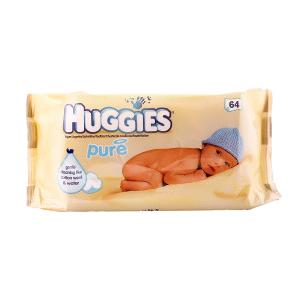 Huggies Baby Wipes Pure (64 pcs)