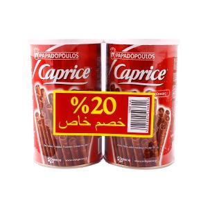 Caprice Wafers Classic (2pcs * 115g) plus Mini Pick Crackers (70g) Free