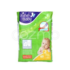 Fine Baby Mother's Touch Lotion, Size 2, Small, 3 - 6 Kg, 60 Diapers