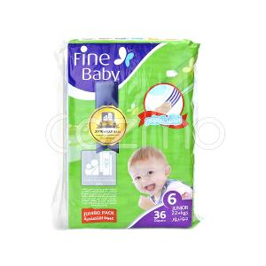 Fine Baby Mother's Touch Lotion, Size 6, Junior 22+ Kg,  36 Diapers
