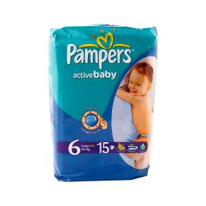 Pampers Active Baby Diapers No. 6 XXL (15 diapers)