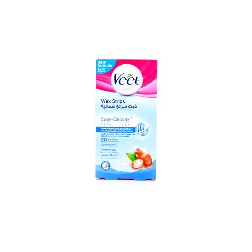 Veet Ready to Use Sensitive Wax Strips - Vitamin E & Almond Oil - 20 Strips