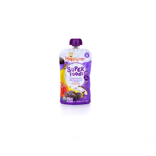Happy Tot Superfoods Banana, Peach and Prunes 120g