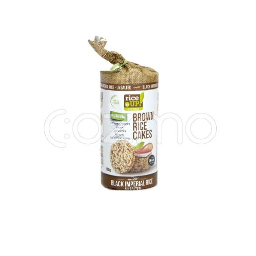 Rice Up Brown Rice Cakes Black Imperial Rice Unsalted 120g