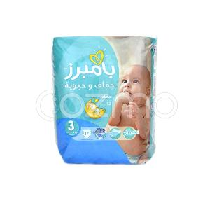 Pampers Active Baby-Dry Diapers, Size 3 - 17 Pcs