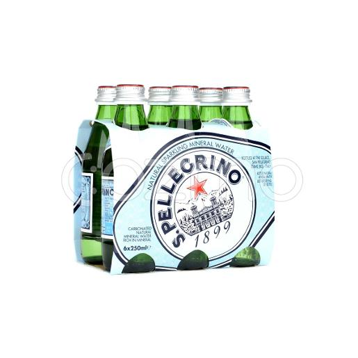 San Pellegrino Natural Sparkling Water 6x250ml Pack