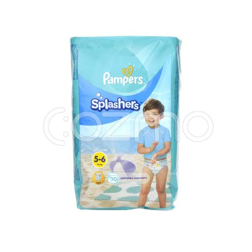 Pampers Splasher Diaper - Size 5 To 6 - 10 Pcs