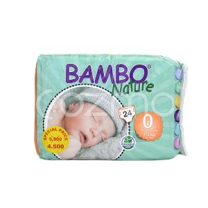 Bambo Nature Premature Size 0, 1 - 3 Kg, 24 Diapers