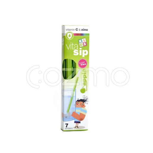 Vitasip Kids Flavored Apple & Vitamin C Straws 7 Straws