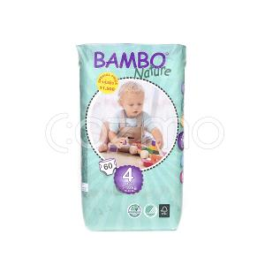 Bambo Nature Maxi Size 4, 7 - 18 Kg, 60 Diapers