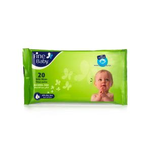 Fine Baby Wipes Nylon Pack (20 pcs)