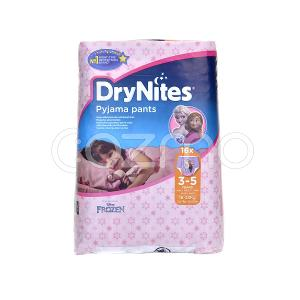 DryNites Pyjama Pants Girls 3-5 years 16 Pcs