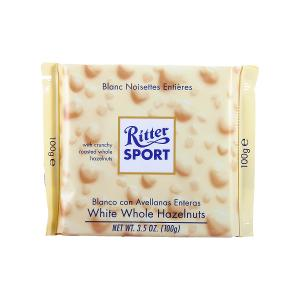 Ritter Sport White Whole Hazelnut Chocolate Bar (100 g)