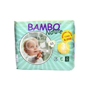 Bambo Nature Midi Size 3, 5 - 9 Kg, 33 Diapers