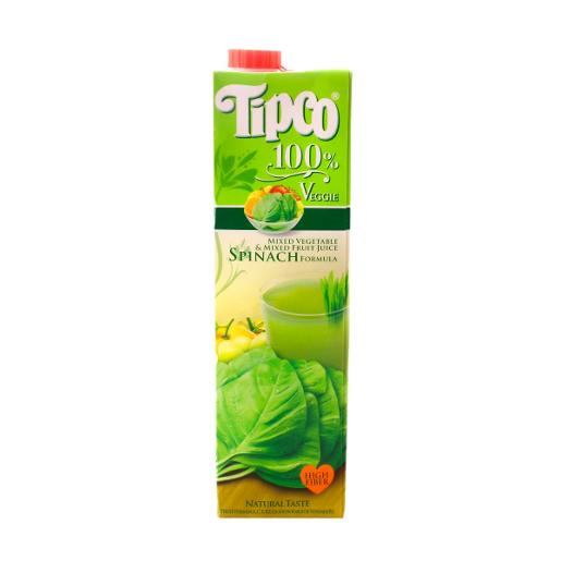 Tipco Veggie Mixed Vegetable & Mixed Fruit Juice Spinach Formula (1 ltr)