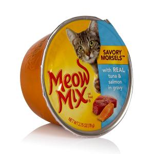 Meow Mix Savoury Morsels with Real Tuna & Salmon in Gravy