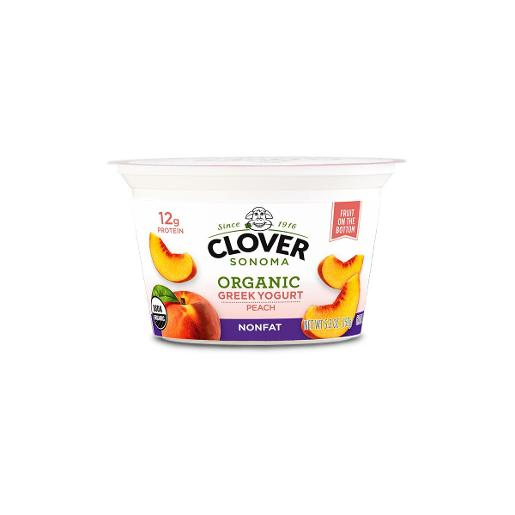 Clover Organic Greek Peach Yogurt 150g