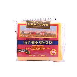 American Heritage Fat Free American Slice Cheese 340g