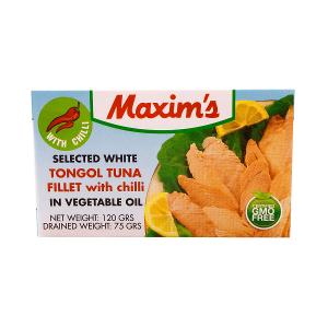 Maxim's Smoked Tongol Tuna Fillet with Chili in Vegetable oil (120 g)