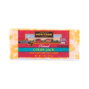 American Heritage Natural Colby & Monterey Jack Cheese 227g