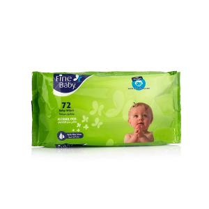Fine Baby Wipes Nylon Pack (72 pcs)