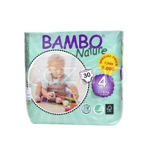 Bambo Nature Maxi Size 4, 7 - 18 Kg, 30 Diapers