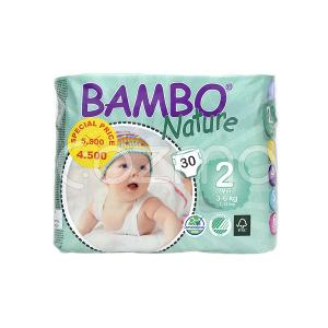 Bambo Nature Mini Size 2, 3 - 6 Kg, 30 Diapers