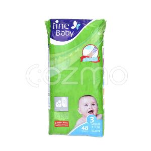 Fine Baby Mother's Touch Lotion, Size 3, Medium, 4 - 9 Kg, 48 Diapers