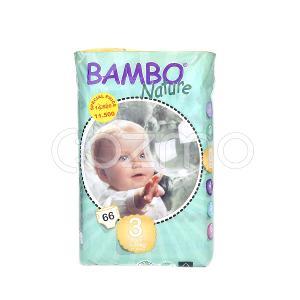 Bambo Nature Midi Size 3, 5 - 9 Kg, 66 Diapers