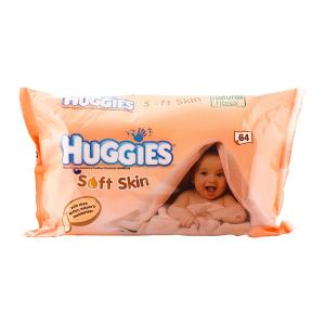 Huggies Baby Wipes Soft Skin (64 pcs)