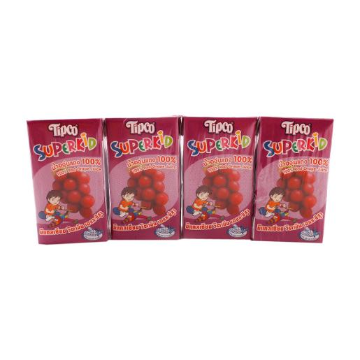 Tipco Superkid Red Grape Juice (4 pcs, 125 ml)