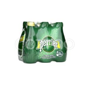 Perrier Natural Sparkling Mineral Water 6x200ml Pack