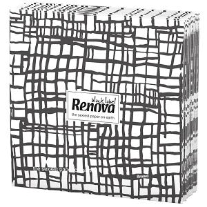 Renova Napkins- Black Stripes