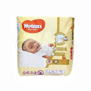 Huggies New Born Diapers, Size 2, 4 - 6 Kg, 21 Diapers