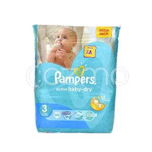 Pampers Active Baby-Dry Mega Pack, Size 3 - 88 Pcs