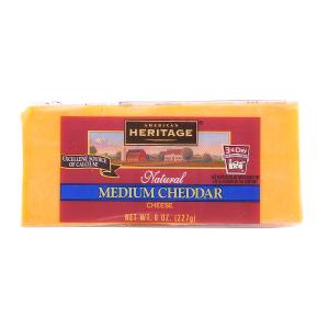 American Heritage Medium Cheddar Cheese 227g