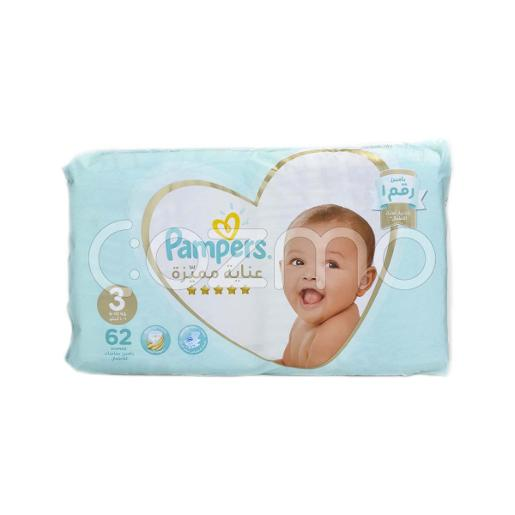 Pampers Premium Care Diapers Size 3 - 62 Pcs