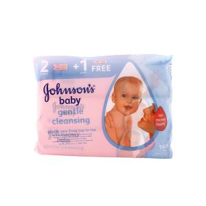 Johnson's Baby Wipes Gentle Cleansing (56 Pcs - 2plus1 Free)