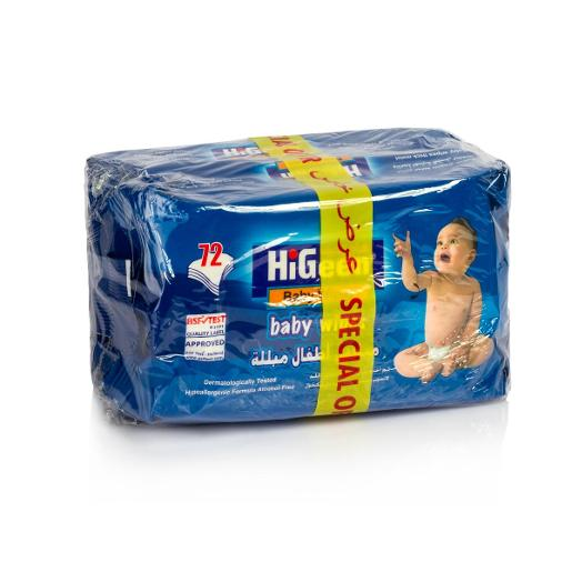 HiGeen Baby Wipes (2 packs x 72 pcs)