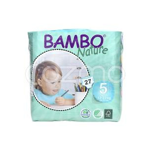 Bambo Nature Junior Size 5, 12 - 22 Kg, 27 Diapers