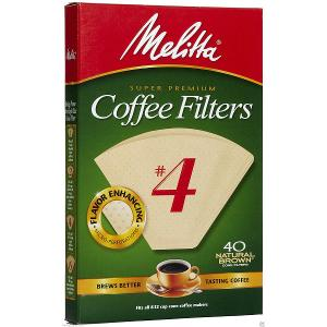 Melitta #4 Cone Coffee Filters (40 filters)