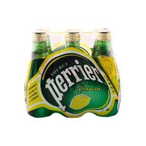 Perrier Sparkling Natural Mineral Water Lemon (6 pcs x 200 ml)