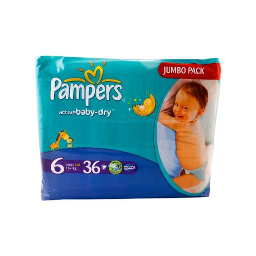 Pampers Active Baby Diapers No. 6 XXL (36 diapers)