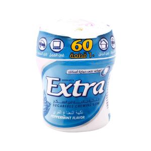 Wrigley's Extra Gum Peppermint Flavor Bottle (60 pcs)