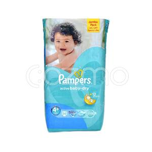 Pampers Active Baby-Dry Larg Jumbo Pack, Size 4+  56 Pcs