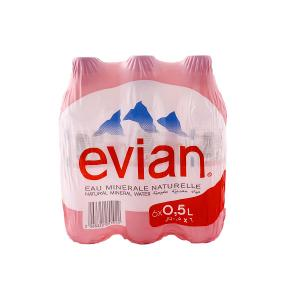 Evian Natural Mineral Water (50 Cl x 6 bottles)