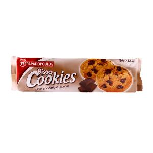 Papadopoulos Bisco Cookies Chocolate Chips (160g)