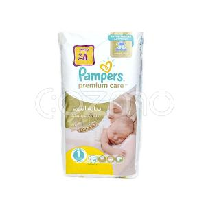 Pampers Premium Care Diapers Size 1 - 50 Pcs